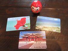 Lot Okinawa Japan NTT Phone cards Shuri Castle, Hibiscus, Beach