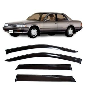 For Toyota Mark II X80 Sd 1988-1992 Window Visors Sun Rain Guard Vent Deflectors