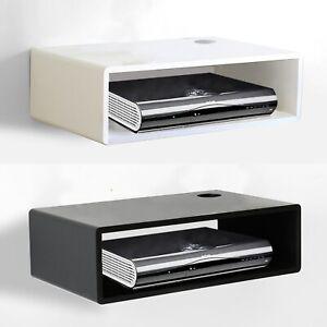 Floating Wall Mount Shelves For SKY TV BOX CD DVD WIFI Router Wooden Shelf Unit