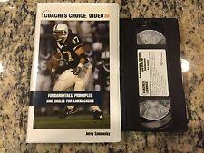 COACHES CHOICE VIDEO FUNDAMENTALS, PRINCIPLES, & DRILLS FOR LINEBACKERS RARE VHS