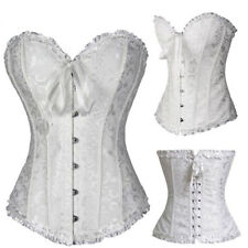Plus Size Steampunk Corset Bustier Basque Burlesque Fancy Lingerie Vintage Top