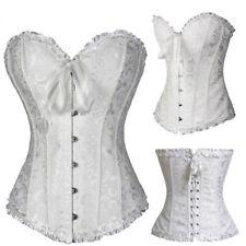 Women Corset Bustier Top Fancy Dress Lingerie Waist Trainer Black Plus Size fe9r