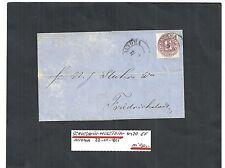 Schleswig-Holstein, 1865 Michelnummer: 20 auf Bedarfsbrief o, Katalogwert € 90