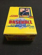 1990 Score Baseball Card Wax Box 36 Packs NEW Sosa,  Thomas, Bo Jackson RC's