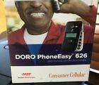Consumer Cellular Doro PhoneEasy 626 Flip Phone Black Camera Bluetooth 128MB photo