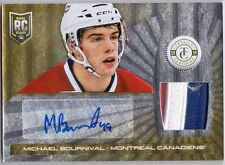 MICHAEL BOURNIVAL 2012-13 Totally Certified Platinum Gold Rookie Patch Auto /10