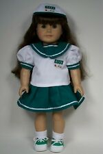 """3pc Girl Scout Uniform Skirt Blouse Cap Doll Clothes For 18"""" American Girl (Debs"""