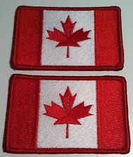 2 CANADA Flag Patch with VELCRO® brand fastener Military Tactical  Emblem
