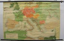 School Wall Map Roll Map Wall Map School Card Large Germany War 136x90 Card