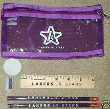LOS ANGELES LAKERS ~ JR STARS ~ PENCIL CASE & KIT ~ GO PURPLE & GOLD!!!