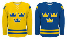 NEW 2020 Team Sweden Hockey Jersey NHL Backstrom Sedin Zetterberg Karlsson