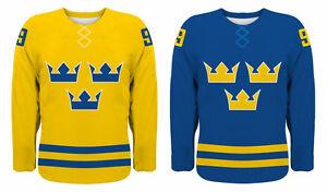 NEW 2021 Team Sweden Hockey Jersey NHL Backstrom Sedin Zetterberg Karlsson