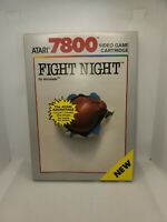 Vintage ATARI 7800 FIGHT NIGHT Video Game With Box Manual and Ad Poster 1988