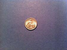 1916 Peru 1/2 Dinero, Uncirculated, Silver, half dime 5 cents (612)