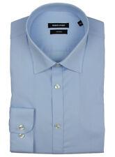 REMUS Uomo Mens Blue Tapered Long Sleeve Shirt 17h