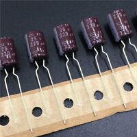 100pcs 25V 220uF 25V NCC Nippon KY 8x11.5mm Low ESR Electrolytic Capacitor