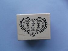 Psx Rubber Stamps Heart With Flowers New Stamp