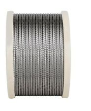 Marine Stainless Steel Wire Rope G316 Wire Balustrade Cable 3.2mm 7x7 Decking