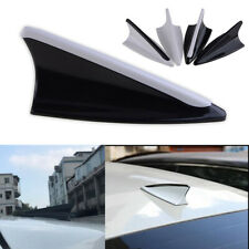 1x Black & White Anti-static Dummy Car Shark Fin Roof Aerial Antenna Mast Decor