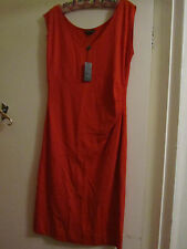 Orangey - Red Pied a Terre Stretchy Jersey Feel Long Dress in Size 16 - NWT