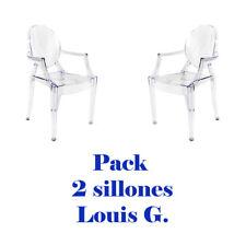 Pack 2 sillas transparentes estilo Louis Ghost ideales para salón/comedor