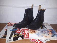 Vintage Black Cowboy Western Boots 40/7