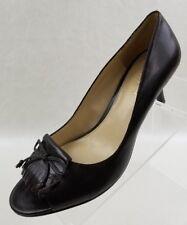 3ccc9673f31 Lauren Ralph Lauren Pumps Open Toe Kiltie Womens Brown Leather Slip On Shoes  7M