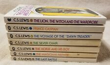 THE CHRONICLES OF NARNIA Complete 7 Book Set C. S. LEWIS Collier 1970s Collier