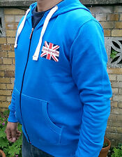 Brand new Cobalt blue LAMBRETTA hooded sweatshirt TRACKSUIT TOP size S