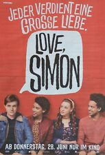 LOVE SIMON - A3 Poster (42 x 28 cm) - Film Plakat Nick Robinson Clippings NEU