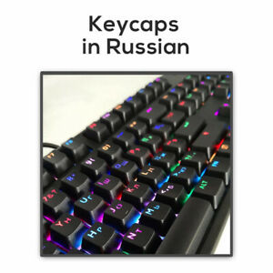 104 Key Korean Russian Backlit Keycap OEM Profile Keycaps for Cherry MX Keyboard