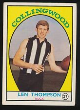 1968 A Scanlens No. 27 Len Thompson Collingwood Magpies Card ****