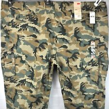 Levis Big and Tall Camo Cargo Pants 60 x 30 Actual Relaxed Fit Fatigues 2014 NWT
