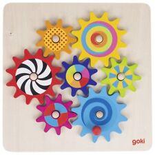 Puzzle, jeux des engrenages en bois