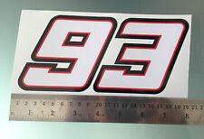 Marc Marquez Numero 93 Sticker / Decal - 200mm X 95 Mm
