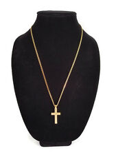 Men's Stainless Steel Cross Necklace Gold