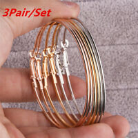 3Pair/Set Gold Silver Alloy Earrings Womens Big Round Circle Hoop Earrings Gifts