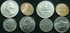 (1G) U.S.A. LOTTO QUARTER DOLLAR 1988 10 CENT 1996 ONE DIME 1975 ONE CENT 1976