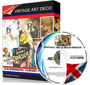 OVER 14,500 VINTAGE & DECO SCRAPBOOKING CLIPART IMAGES all printable on DVD