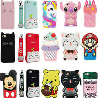 3D Cartoon Soft Silicone Kids Cover Case For Touch 6 7 iPhone 6/7/8 XS XR XS Max