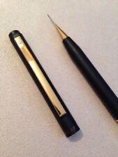 VINTAGE SHEAFFER EPOXY MATT BLACK GOLD TRIM 0.5mm MECHANICAL PENCIL-USA-SUPERB