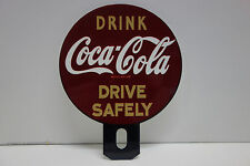 "License Plate Topper DRINK Coca Cola DRIVE SAFELY 4 3/4"" High by 3 3/4"" Wide"