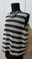 NEW Size M Sussan Black & White Polyester Lace Women's Top- 55cm Bust
