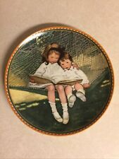 "Knowles Fine China ""Story Time"" Vintage Plate. Artist Jessie Wilcox Smith."