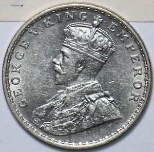 British India 1918 C Rupee BU 193321 combine