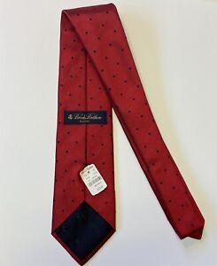 BROOKS BROTHERS Makers Men 100% Silk Necktie Designer POLKA DOT Red Blue NWT $75