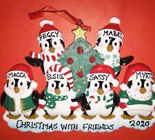 Personalised Family Christmas Tree Xmas Decoration Ornament  Penguin Family 2-9