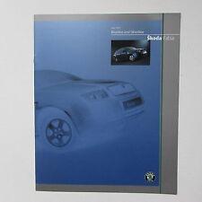 Skoda Fabia Blueline and Silverline Brochure (2003)