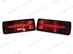 Mercedes Benz G Class G500 G550 G55 AMG W463 LED Tail Lamp Light BLK Red Smoke