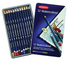 Derwent Acquerello 12 Tin-Set di solubile in acqua MATITE COLORI ASSORTITI